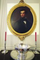 Take Me Home: John Parker was delighted to bring family heirlooms back to his ancestral home, including oils of his great-great-grandparents, Dr. Francis Simmons Parker and Mary Taylor Lance Parker. The portraits hang proudly in Mansfield's dining room.