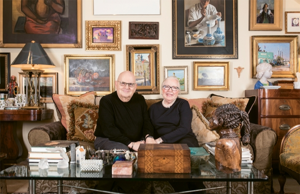 Jim Calk and Betsy Haven's in their home