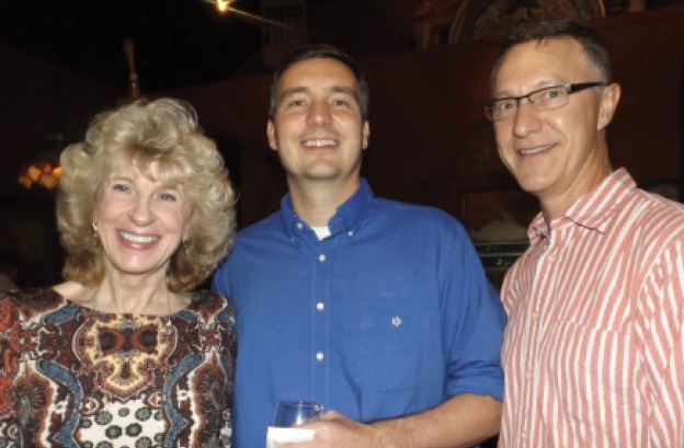 Joan Hightower, Brandon Cox  and Frank Efird