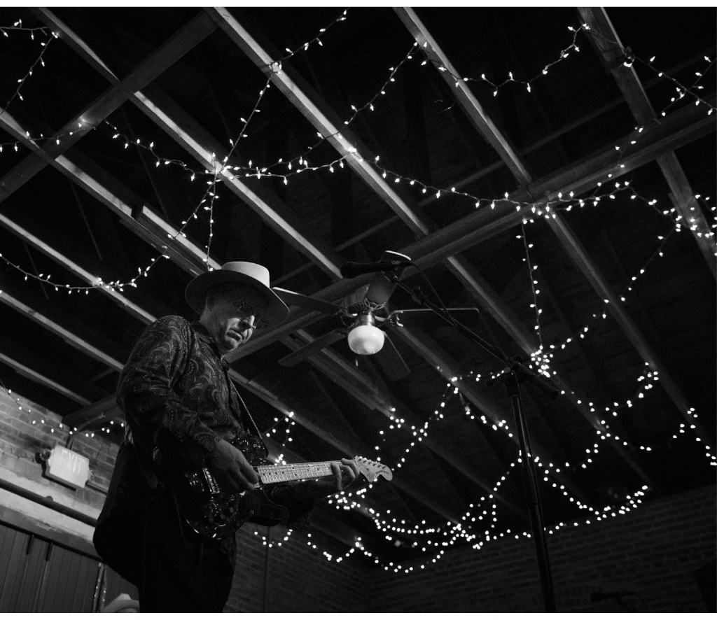 """Webb Wilder performed at SXSE on March 12, 2016, to a packed crowd. It was his second appearance at the music series. Wilder describes his music this way: """"Rock 'n' roll, from Nashville. Formed from Mississippi mud, tinged with British mod. Bruised by the blues. Baptized by Buck and Chuck. Psychiatric psycho-rootsy. Sizzling, glistening, uneasy listening."""""""