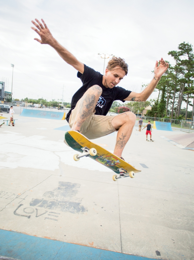 Vitaly Ninichuk - Pictured here having fun at the Matt Hughes Skate Park, Ninichuk is a team rider for Daville, one of two new skate shops in the area.