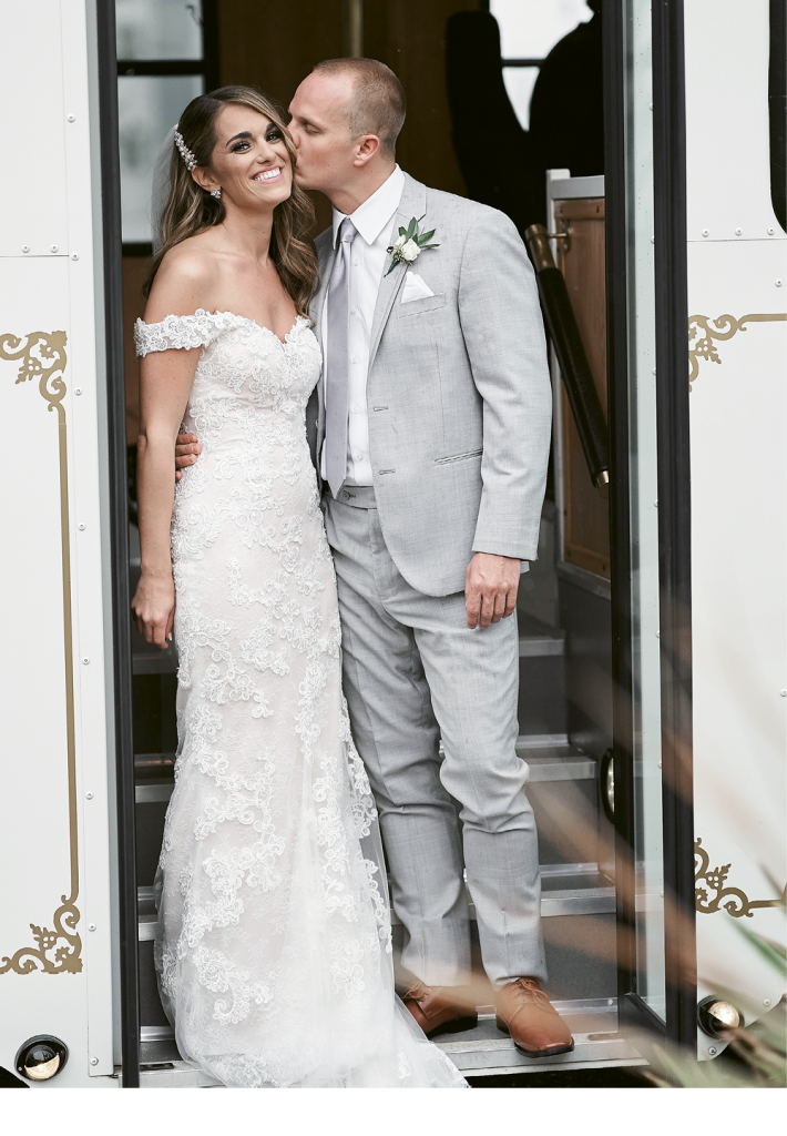 The signage was rustic and homemade. Hair and makeup were provided by Danielle DeBellis Makeup, Kara Horning, Makeup by Jami and Pampered & Pretty. Incredible Edibles created the wedding cake and videography was captured by Surrender Films.