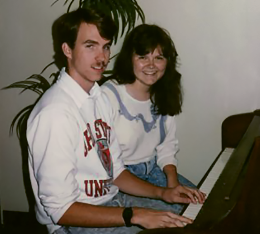 Stewart with his wife, Lori, circa 1989, when they first met.