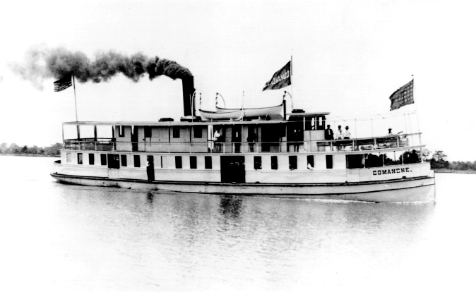 During the early 20th century, the Comanche made weekly runs to North Island, ferrying passengers to the island for 25 cents rou
