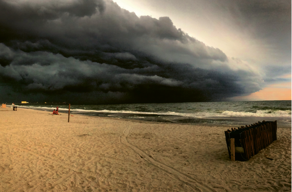Storm rolling in  Photographer: Elizabeth Muckensturm  Where: Shore Drive in front of Ocean Annie's, Myrtle Beach