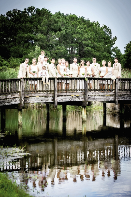 Bridge that Bonds: The bride and groom's central focus on their wedding day was the love and support from friends and family, now and forever.