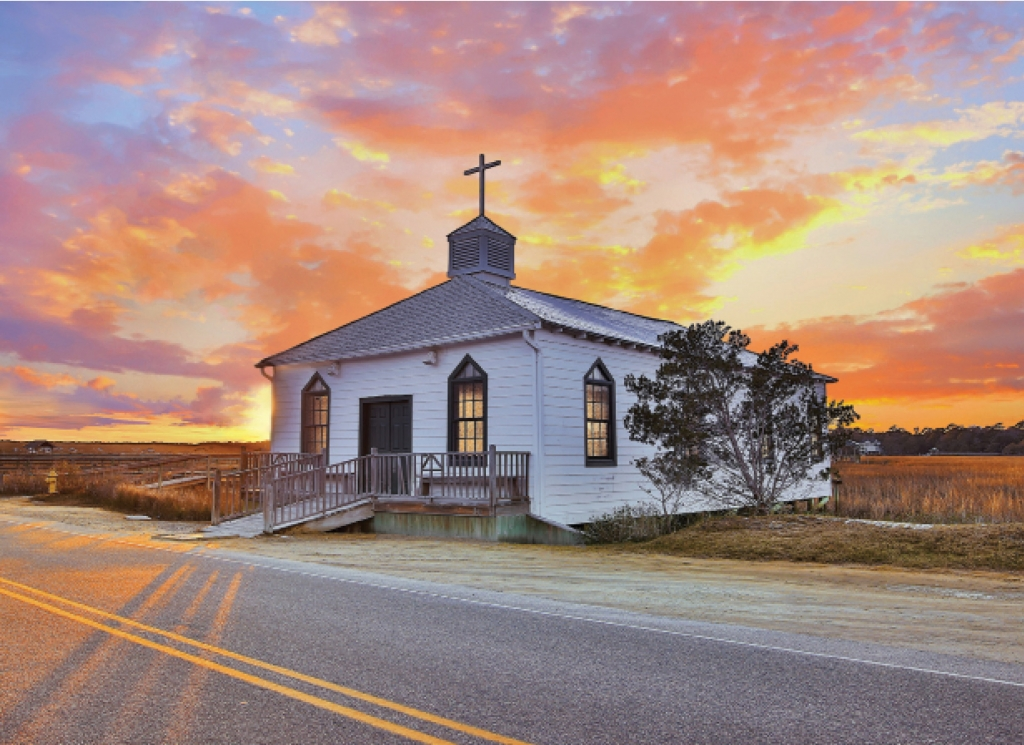 At only 50 feet long and 24 feet wide, the Pawleys Island Chapel holds a maximum of 200 people.