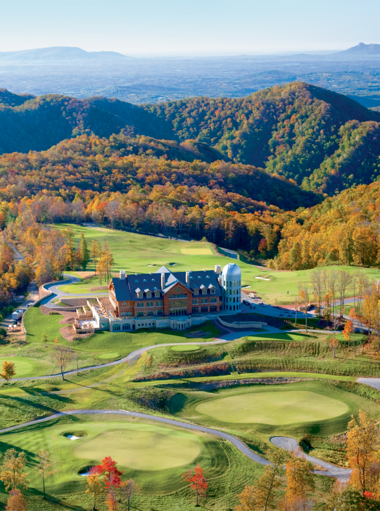 From a 2,800-foot plateau just beyond the North Carolina border in Virginia, Primland counts horseback riding and golf in its many offerings.