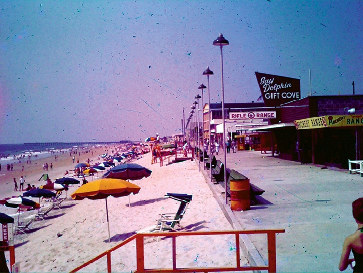 The Myrtle Beach Boardwalk as seen today and in the late 1950s.