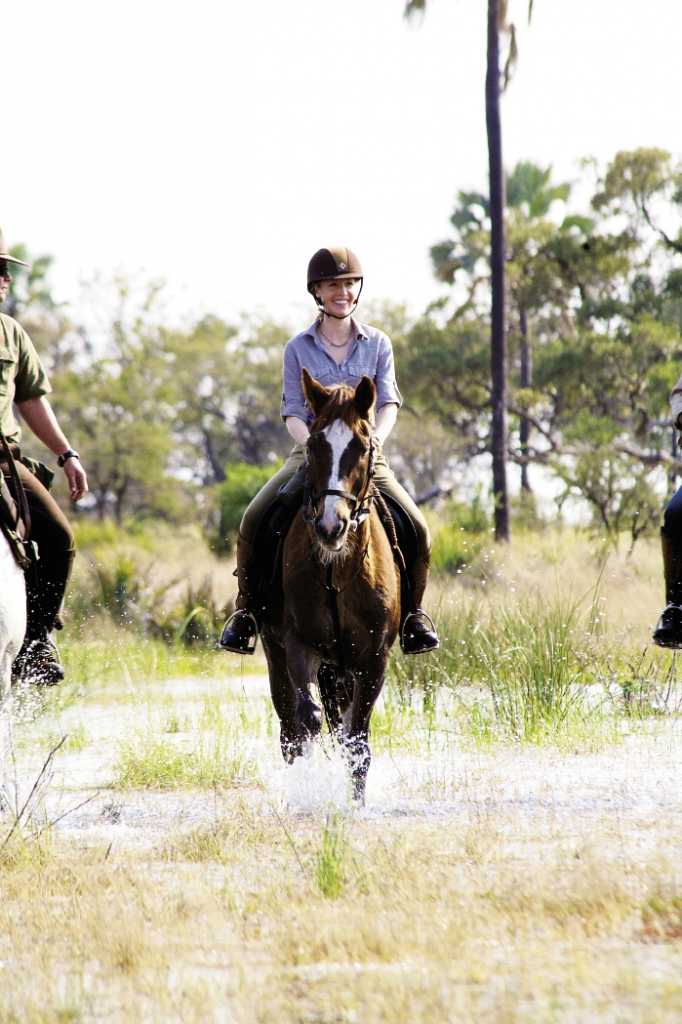 Off-Road: Newman's travels take her to spots only accessible by horse and rider, like the Okavango Delta in Botswana, the largest inland delta in the world.