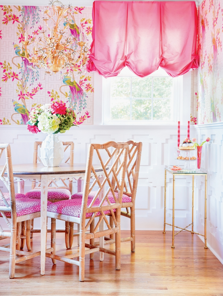 The Battleson Home: Pink accents push their way in just about every room in the Battleson home (with the exception of the master, per Joe's request).