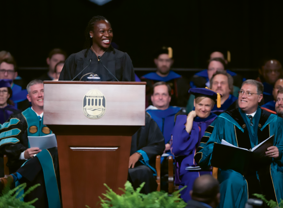 Campbell was a commencement speaker at her alma mater, Coastal Carolina University, in 2017, when she was also presented an honorary Doctor of Science.