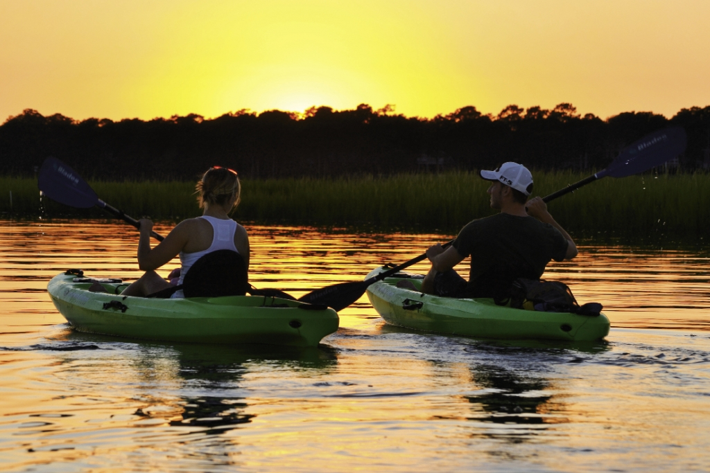 The twilight tour is a romantic time to be on the water at sunset.