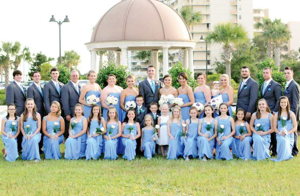 I'll Tumble for Ya: Gymnastics has always been a part of this bride's life, and she also made sure it was part of her theme by including her winning team on her wedding day.