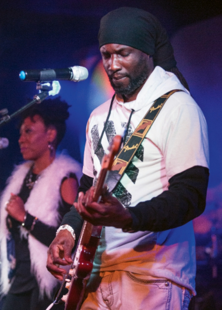 Guitarist Dorian Samuel performs with Tru Sol at 2001 Nighclub. Tru Sol has been a fixture on the Grand Strand for more than 13 years.