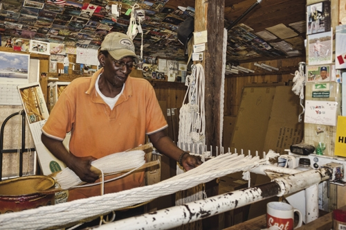 Marvin Grant has mastered the art of weaving, the art of talking, and the art of doing both at once.