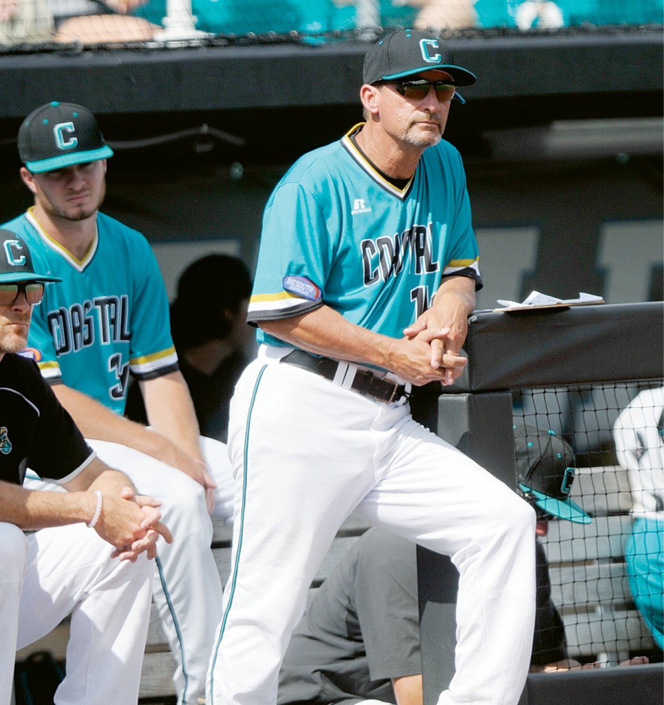 This was Gary Gilmore's viewpoint from the CCU dugout as coach for the last 21 years. And he couldn't be prouder of the men he stood alongside.