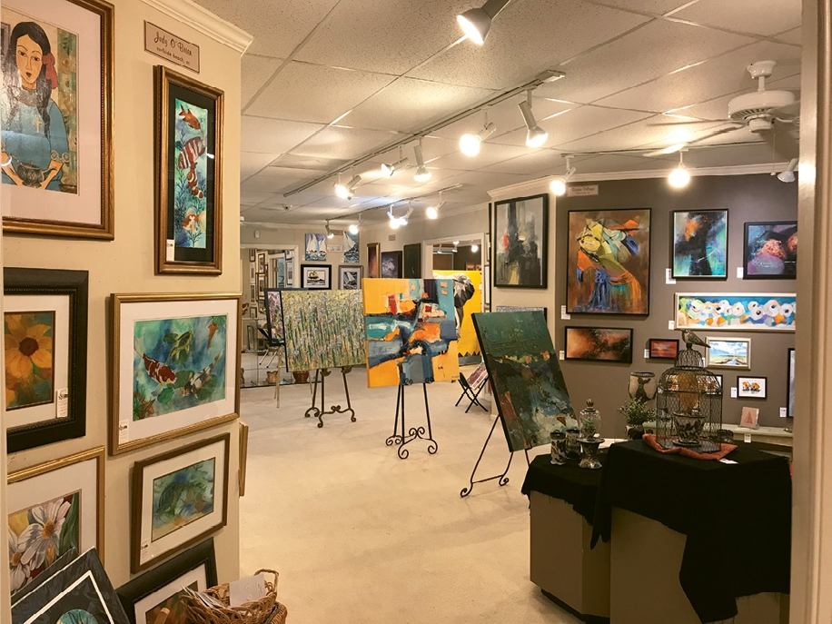 The Sunset River Marketplace is filled with fine art, folk art and classrooms.