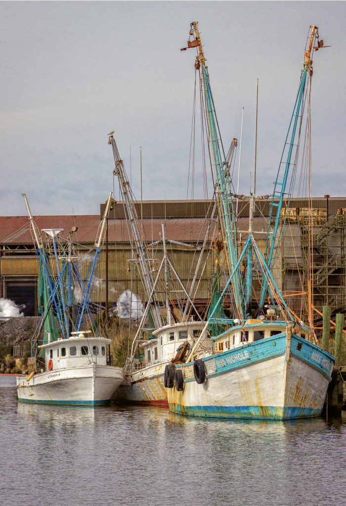 Shrimpers at Dock - Charles Lawhon - Georgetown