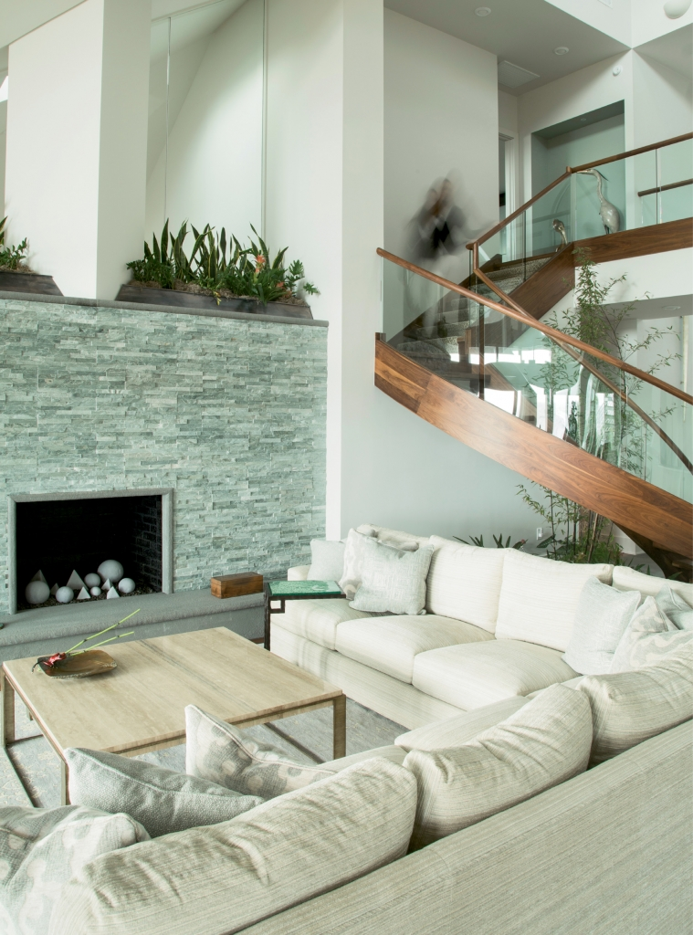 Zen-sational: The indoor gardens and trees in the Nardslico home add another ethereal layer of peace and tranquility.