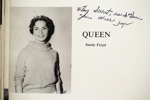 Sandra Flowers Floyd Hardwick was homecoming queen of Loris High School in 1962.