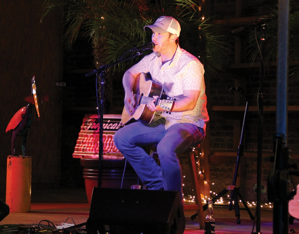 Performing at his album release show in Port St. Joe, Florida