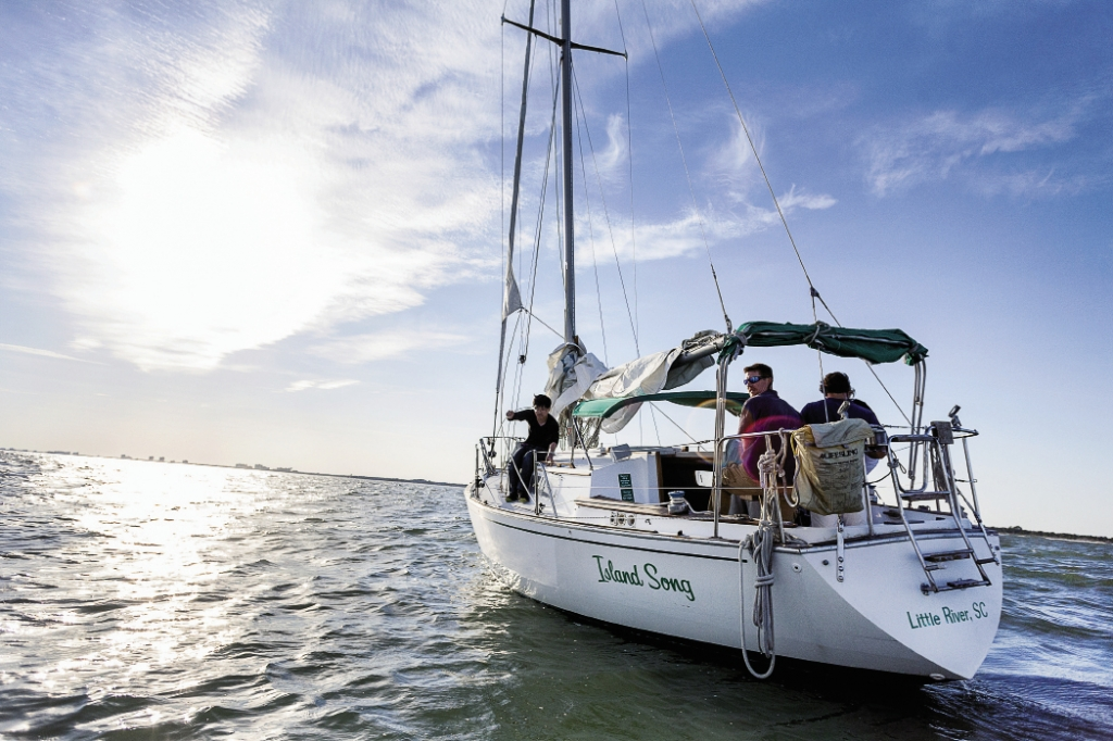 Last-minute lessons in calm waters before heading out to sea.