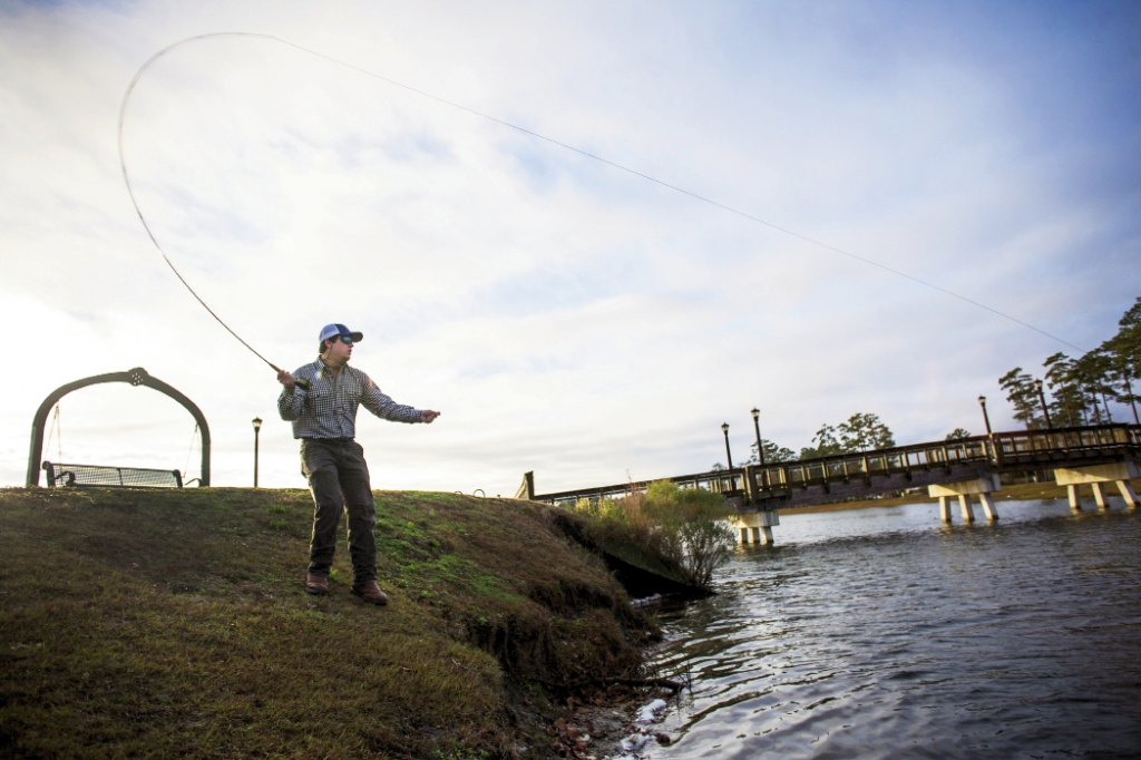 Get Outdoors:  Retail anchor Orvis holds free fly-fishing seminars at one of the many lakes surrounding the retail and residential areas.