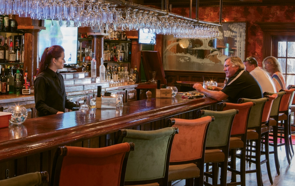 The bar is a beauty, serving up happy hour daily 4:30-6:30 p.m.