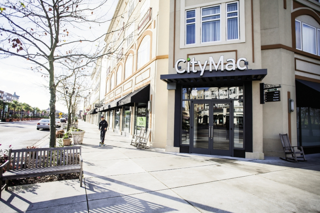 """A Good Fit: Apple specialists CityMac recently moved to a corner location and finds The Market Common's customer to """"fit the demographic [goal] perfectly."""""""