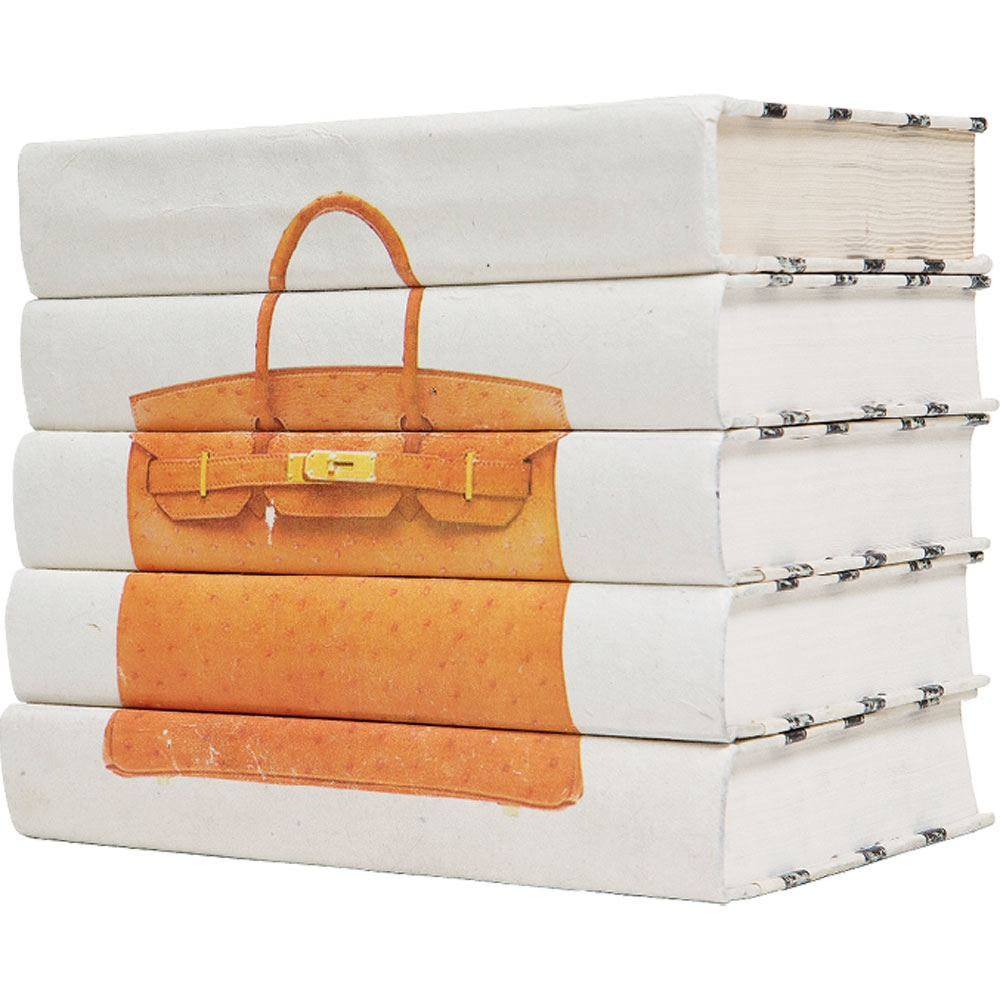 If you love fashion, books and bags, then these Hermes Birkin bag stackable books are going to be a must.