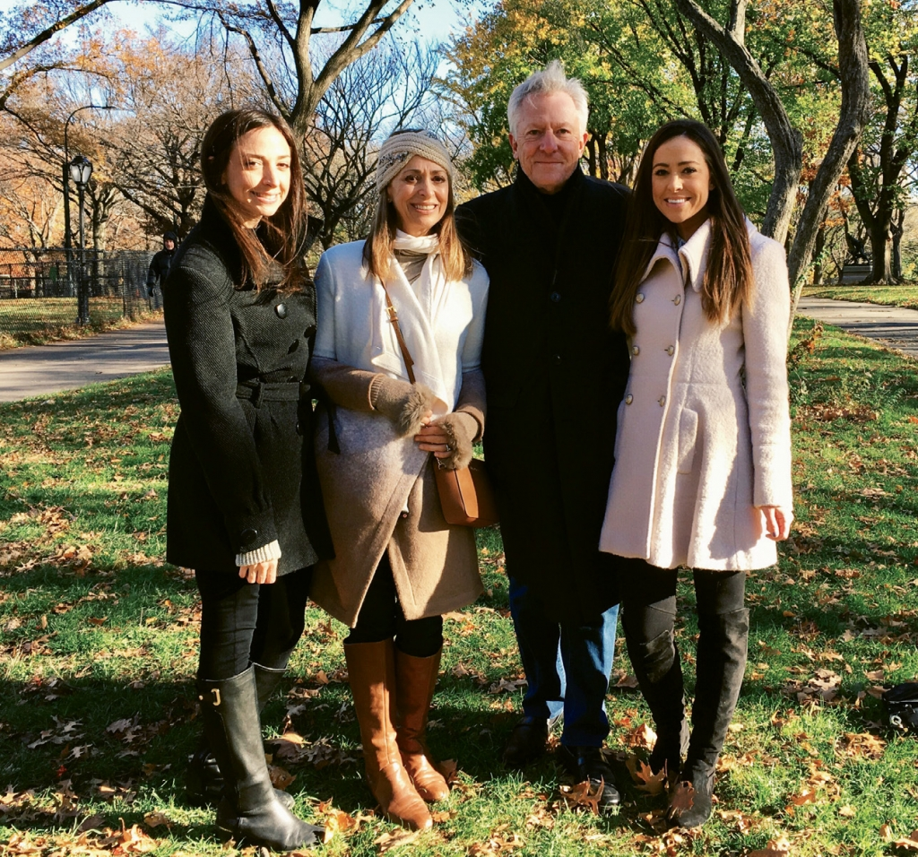 Maggie Boineau and her husband, Trippett, take time out with their daughters, Caroline and Alexandra, in New York's Central Park