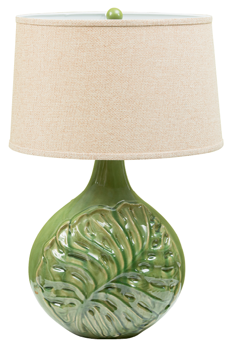 Lighten Up  Lacking a green thumb? Add a botanical lamp to your décor