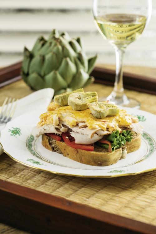 Artichoke and Pimento Cheese Sandwich