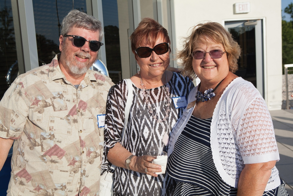 Dave and Denise Snight with Marilyn Keyser
