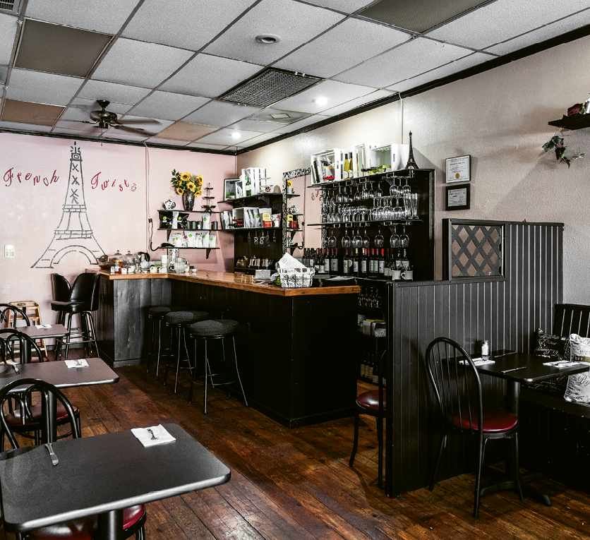 From Schnitzel to Coq Au Vin: French Twist Tea Room took over the former location of Cafe Old Vienna, keeping the cozy elements intact but adding a French flair.