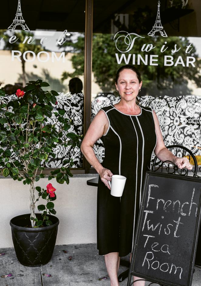 Meet Madame McCollum, proprietor and hostess of French Twist Tea Room.