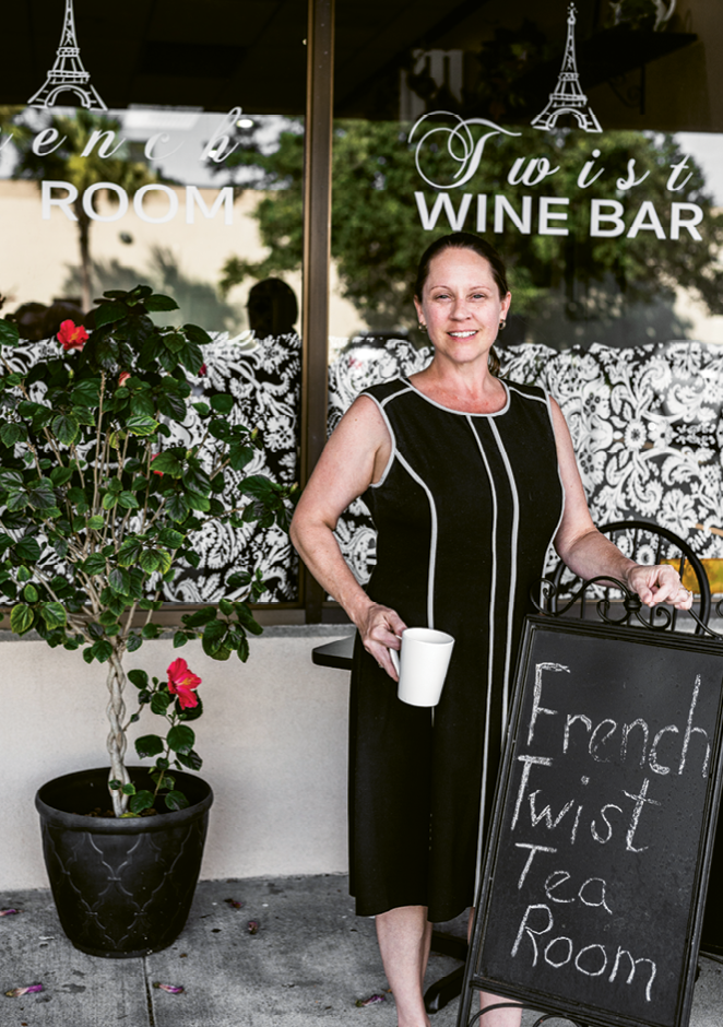 Meet Madame McCollum, proprietor and hostess of French Twist Tea Room.