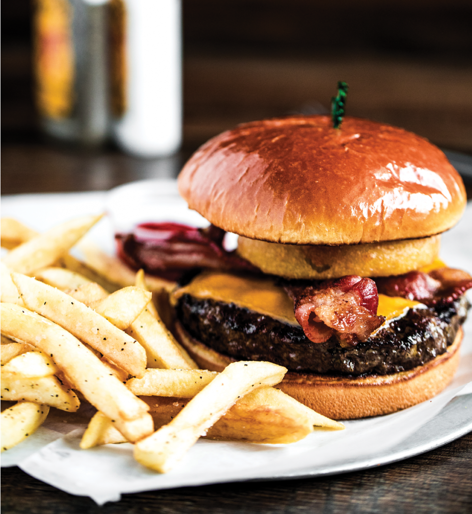Yes, Please!: Burgers, sushi, wings, craft beer and a family-friendly sports-bar vibe combine to make The Grumpy Monk a popular spot for lunch, dinner and late-night dining.