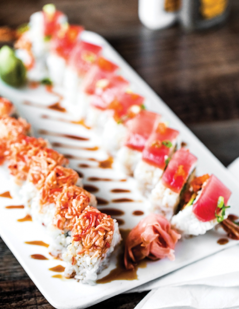 You can get your sushi fix with a menu that includes nearly 50 of the most popular sushi creations.