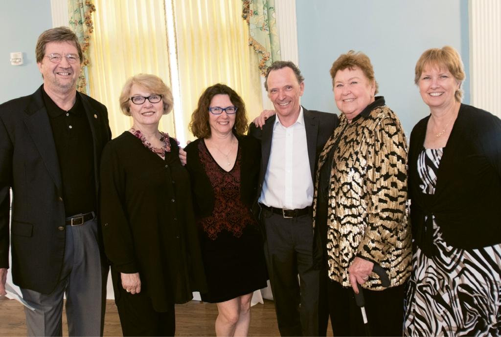 Eddie Dyer, Fran Gilbert, Treva Leigh, David Leigh, Joanne Milner and Kathy Tinius