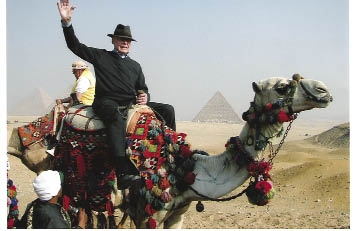 World Traveler: Harry Hartshorne is just as comfortable on horseback as he is crossing a desert by camel.