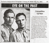 "Lt. James Arthur Norton Jr. AND Lt. Edward Robertson Norton, ""The Norton Twins"""