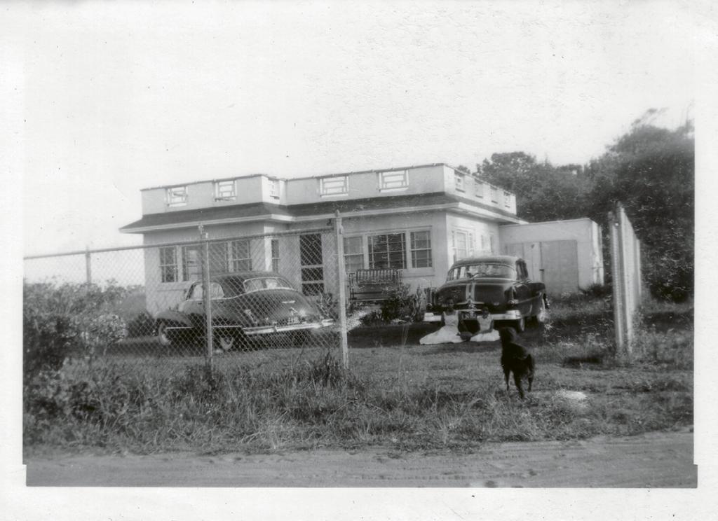 he Manigault beach home circa 1952.