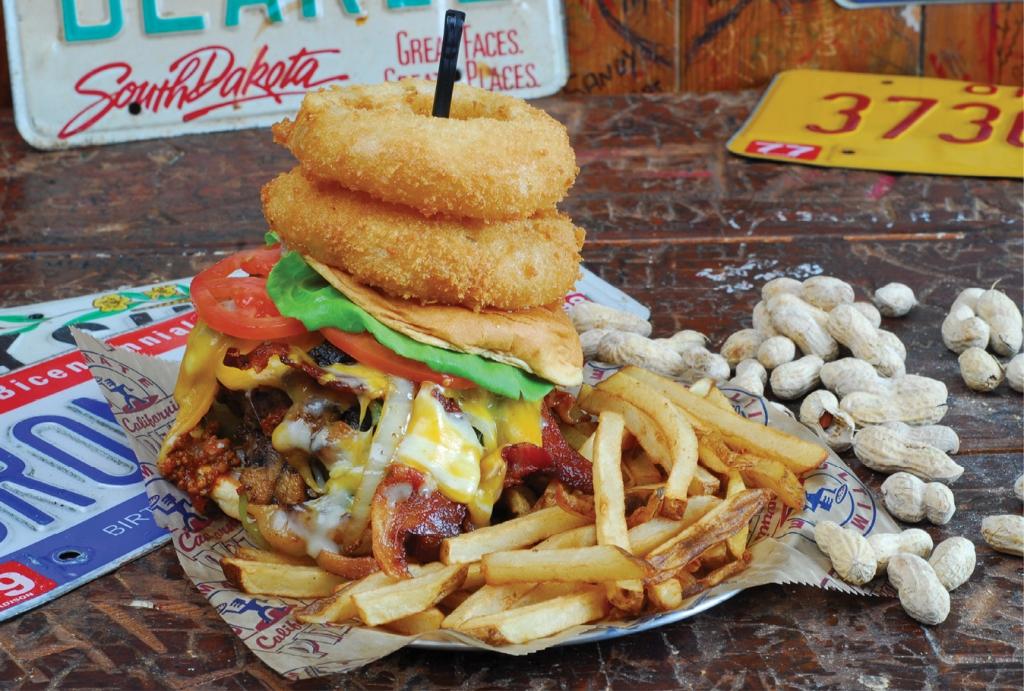River City Cafe's Kitchen Sink Burger