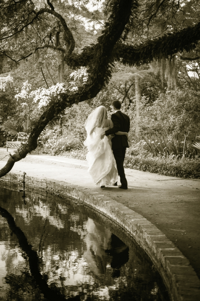 Happy Place: Brookgreen Gardens was a special childhood haven for both bride and groom, so it was only natural that this is where they'd start their life together.