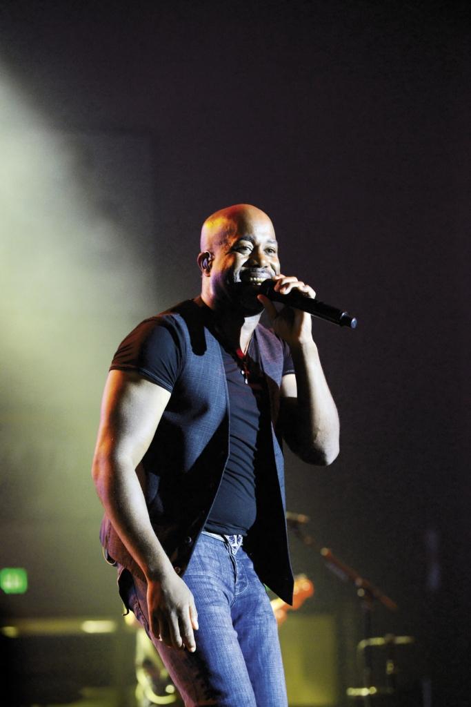Rucker onstage at Coastal Carolina University (