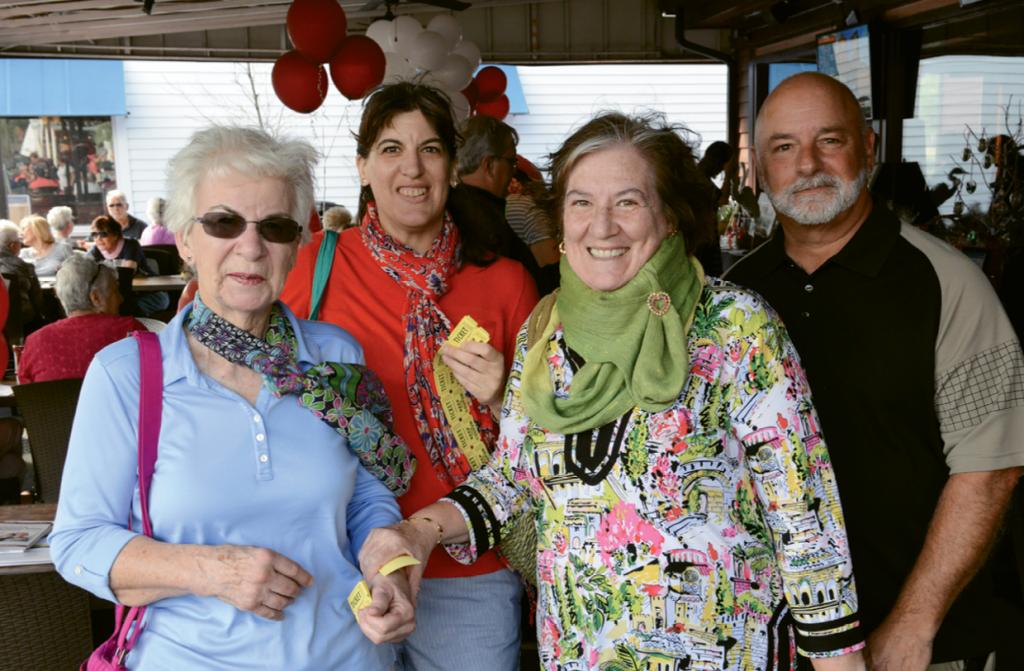 Marjorie Flint, Nancy Flint, Pauline Bellavance and Bob Bellavance