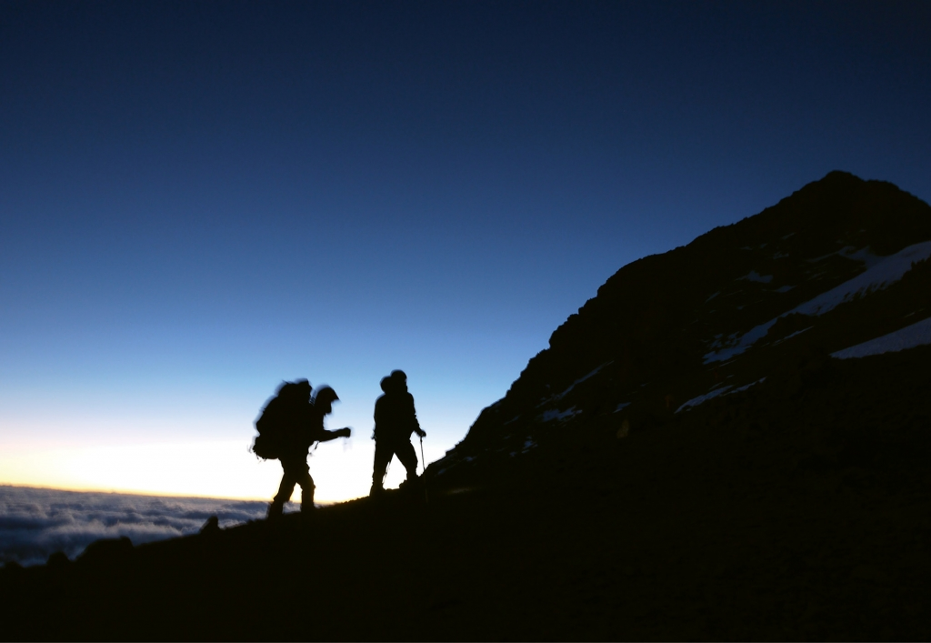 Tom Mullikin and son, Thomas Mullikin Jr., in late December 2013, ascending Argentina's 23,000-foot Mt. Aconcagua, one of the world's seven great summits.