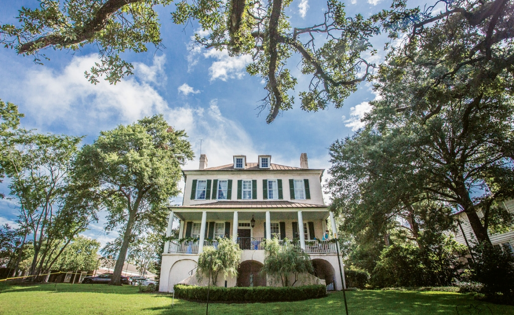 Making History: Not only was the Duttons' wedding an historic date, but it was also set on the historic site of the Kaminski House Museum in Georgetown, which dates back to the 18th century.